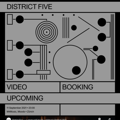 Screenshot of District five website